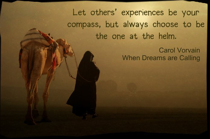 Let others' experiences be your compass, but always choose to be the one at the helm.