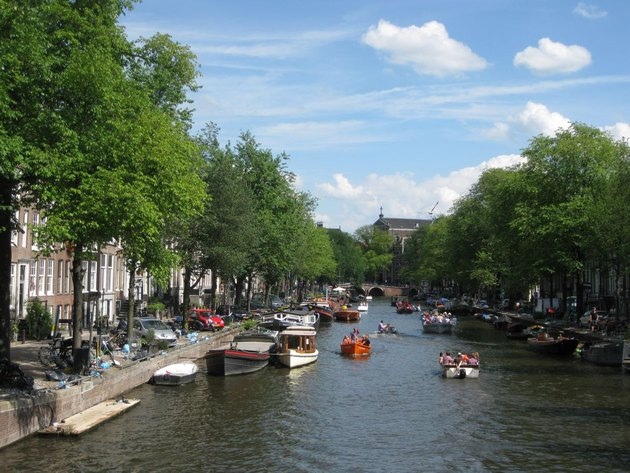 The famous Amsterdam's canals.