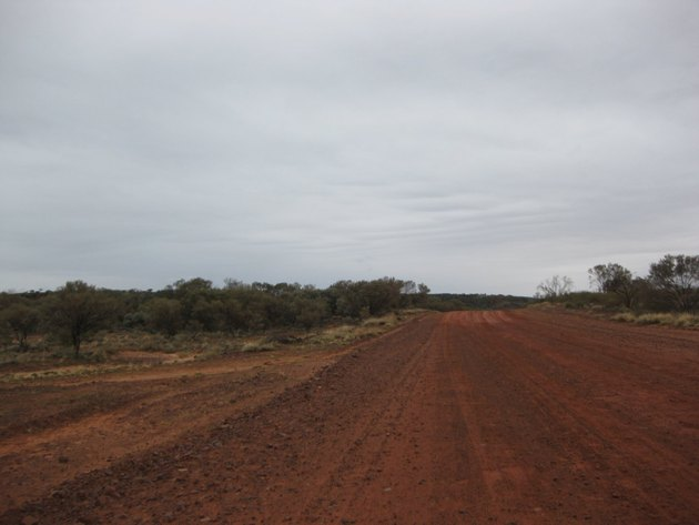 Road from Alice Springs to Kings Canyon